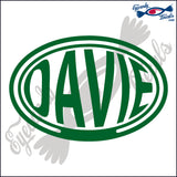 DAVIE for FLORIDA BALLOONED in OVAL   5 INCH  DECAL