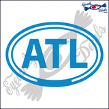 ATL for ATLANTA GEORGIA in OVAL   5 INCH  DECAL