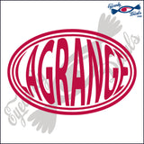 LAGRANGE for GEORGIA BALLOONED in OVAL   5 INCH  DECAL