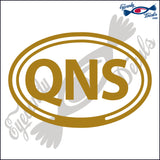 QNS for QUEENS NEW YORK in OVAL   5 INCH  DECAL
