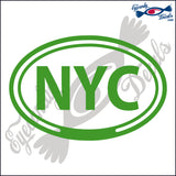 NYC for NEW YORK CITY in OVAL   5 INCH  DECAL