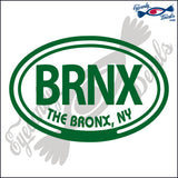 BRNX with THE BRONX NEW YORK in OVAL   5 INCH  DECAL