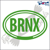 BRNX for THE BRONX NEW YORK in OVAL   5 INCH  DECAL