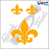 "FLEUR DE LIS 4""  DECAL plus 2 small"