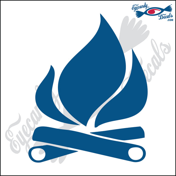 CAMPFIRE 6 INCH  DECAL