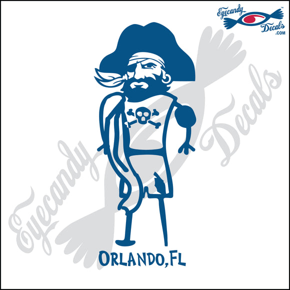 BEACH PIRATE with FLORIDA 6 INCH  DECAL