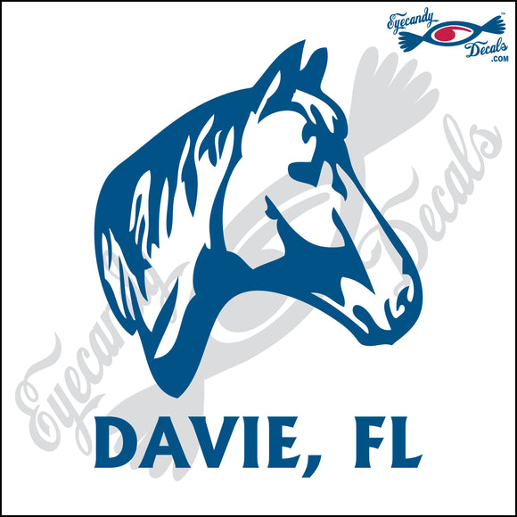 HORSEHEAD with DAVIE FLORIDA 6 INCH  DECAL