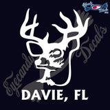 DEER HEAD with DAVIE FLORIDA 6 INCH  DECAL