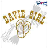 DAVIE GIRL OVER SANDALS FLORIDA 6 INCH  DECAL