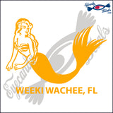 MERMAID with WEEKI WACHEE FLORIDA 6 INCH  DECAL