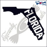 FLORIDA SHAPE WITH FLORIDA 6 INCH  DECAL