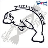 MANATEE with THREE SISTERS SPRINGS FLORIDA 6 INCH  DECAL