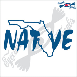 FLORIDA NATIVE 6 INCH  DECAL