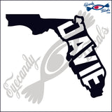 FLORIDA SHAPE with DAVIE 6 INCH  DECAL