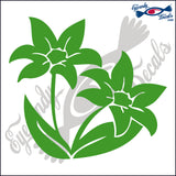 "LILLY FLOWER  5""  DECAL"