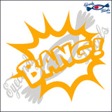BANG EXPLOSION 6 INCH  DECAL