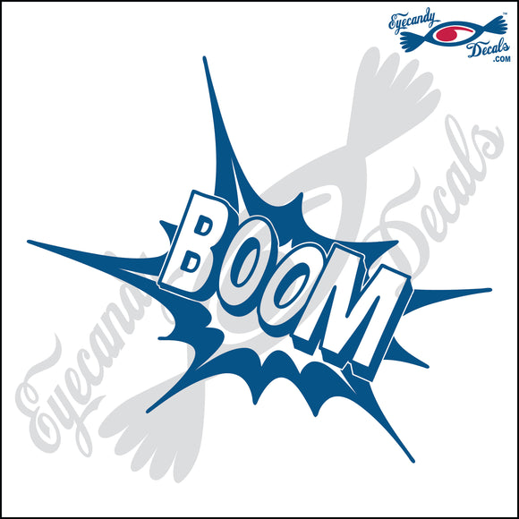 BOOM EXPLOSION 6 INCH  DECAL