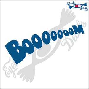 BOOM EXPLOSION LONG WORD 6 INCH  DECAL
