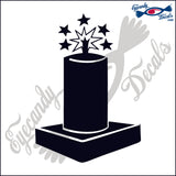 FIREWORKS MORTAR 6 INCH  DECAL