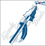 "ARROW WITH FEATHER 6"" DECAL"