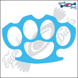 "BRASS KNUCKLES 6"" DECAL"