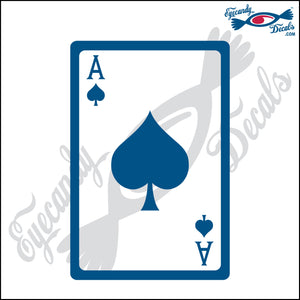 "ACE OF SPADES CARD 6"" DECAL"
