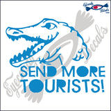 "ALLIGATOR 11 - GATOR SEND MORE TOURISTS 5""  DECAL"