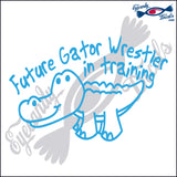 "ALLIGATOR 12 - FUTURE GATOR WRESTLER  5""  DECAL"