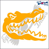"ALLIGATOR 16 - GATOR HEAD  6""  DECAL"