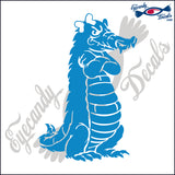 "ALLIGATOR 2 - GATOR WITH BOW STANDING 6""  DECAL"