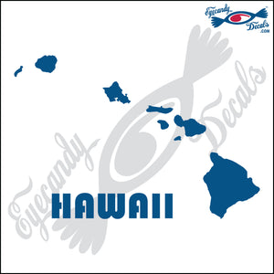 "HAWAII ISLANDS WITH NAME 6""  DECAL"