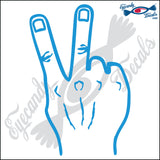 "HAND SIGN V 6"" DECAL"