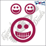"HAPPY FACE WITH BIG SMILE  4""  DECAL"