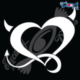 HEART DEVILISH 6 INCH  DECAL