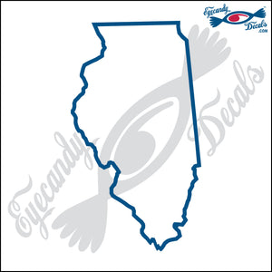 "ILLINOIS STATE OUTLINE 6""  DECAL"