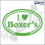 "EURO WITH I LOVE BOXERS  5"" DECAL"