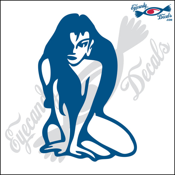 NAKED LADY SITTING 6 INCH  DECAL