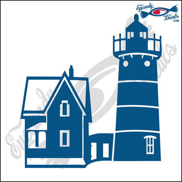 NUBBLE MAINE LIGHTHOUSE 6 INCH  DECAL