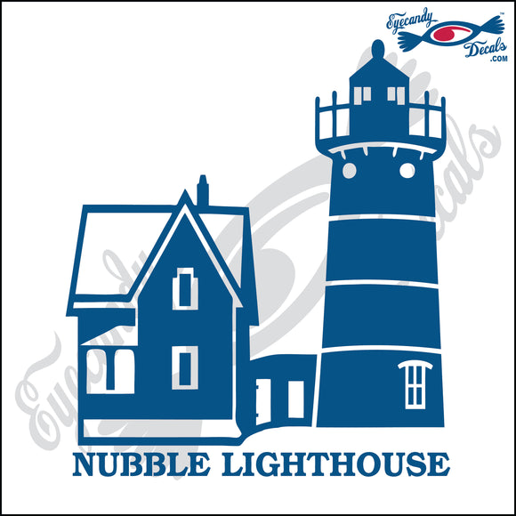 NUBBLE MAINE with NAME LIGHTHOUSE 6 INCH  DECAL