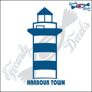 HARBOUR TOWN SOUTH CAROLINA with NAME LIGHTHOUSE 6 INCH  DECAL