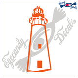 AMELIA ISLAND GEORGIA LIGHTHOUSE 6 INCH  DECAL
