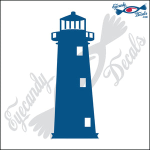SAND ISLAND ALABAMA LIGHTHOUSE 6 INCH  DECAL