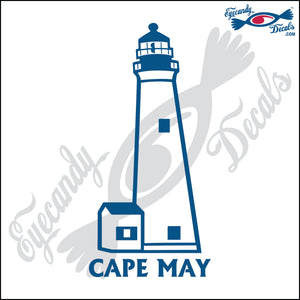 CAPE MAY NEW JERSEY with NAME LIGHTHOUSE 6 INCH  DECAL