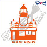 POINT PINOS CALIFORNIA with NAME LIGHTHOUSE 6 INCH  DECAL