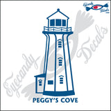 PEGGYS COVE NOVA SCOTIA CANADA with NAME LIGHTHOUSE 6 INCH  DECAL