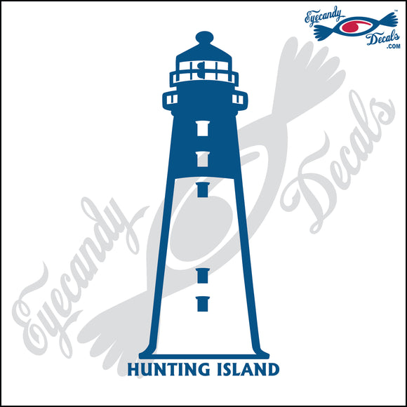 HUNTING ISLAND SOUTH CAROLINA with NAME LIGHTHOUSE 6 INCH  DECAL