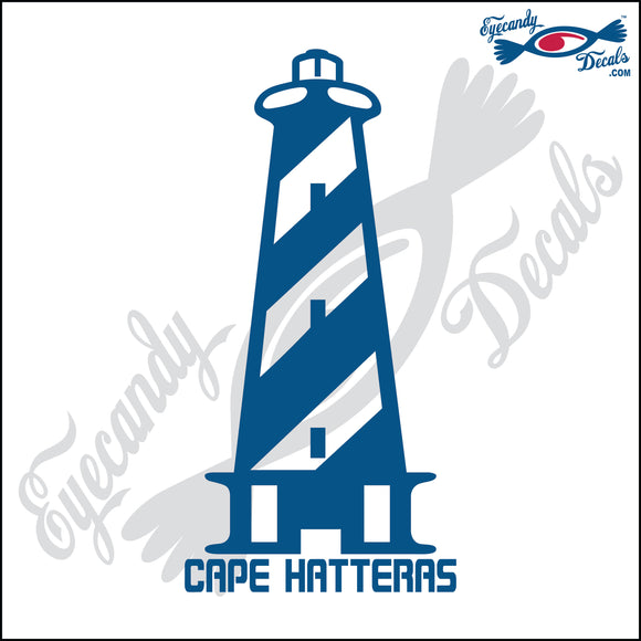 CAPE HATTERAS NORTH CAROLINA LIGHTHOUSE with NAME 6 INCH  DECAL