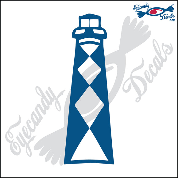 CAPE LOOKOUT NORTH CAROLINA with NAME LIGHTHOUSE 6 INCH  DECAL