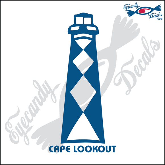 CAPE LOOKOUT NORTH CAROLINA LIGHTHOUSE 6 INCH  DECAL