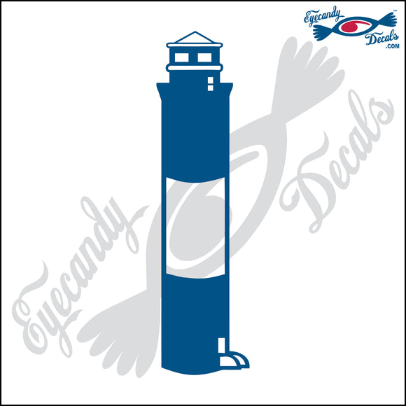 OAK ISLAND NORTH CAROLINA with NAME LIGHTHOUSE 6 INCH  DECAL